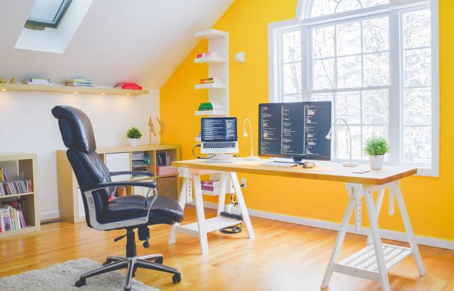 yellow-home-office